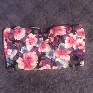 FLORAL BOW CROP TOP